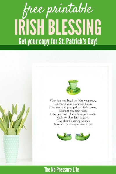 Free St. Patrick's Day printable Irish Blessing