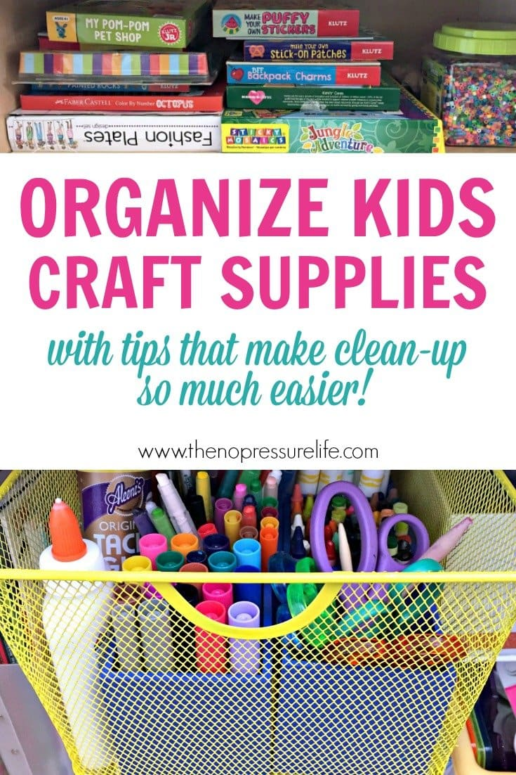 How to organize kids craft supplies