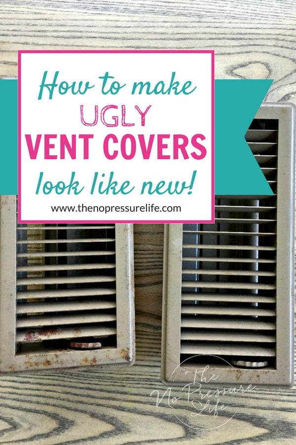 How to paint metal floor vents with spray paint
