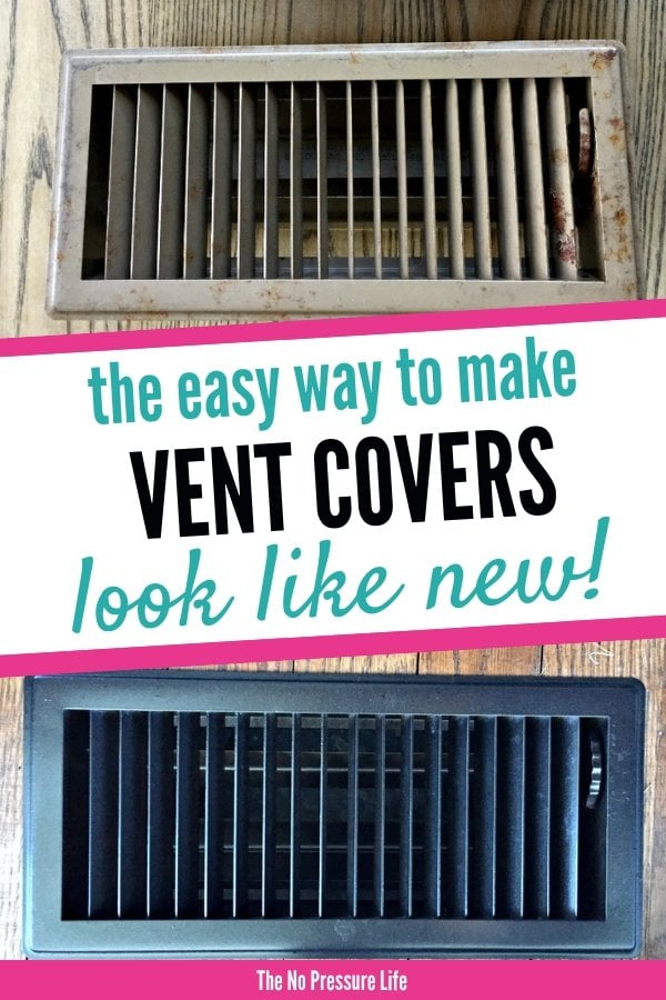 How to paint metal vent covers
