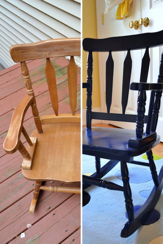 Easy DIY spray paint ideas - spray painting wood furniture