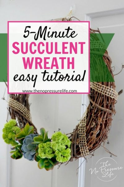 Learn how to make a DIY faux succulent wreath