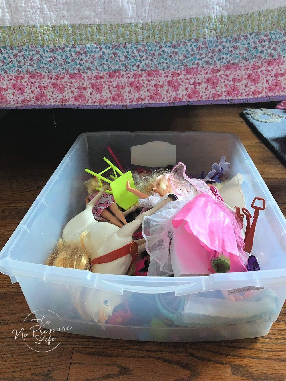 Under bed Barbie Storage for dolls, shoes, and accessories