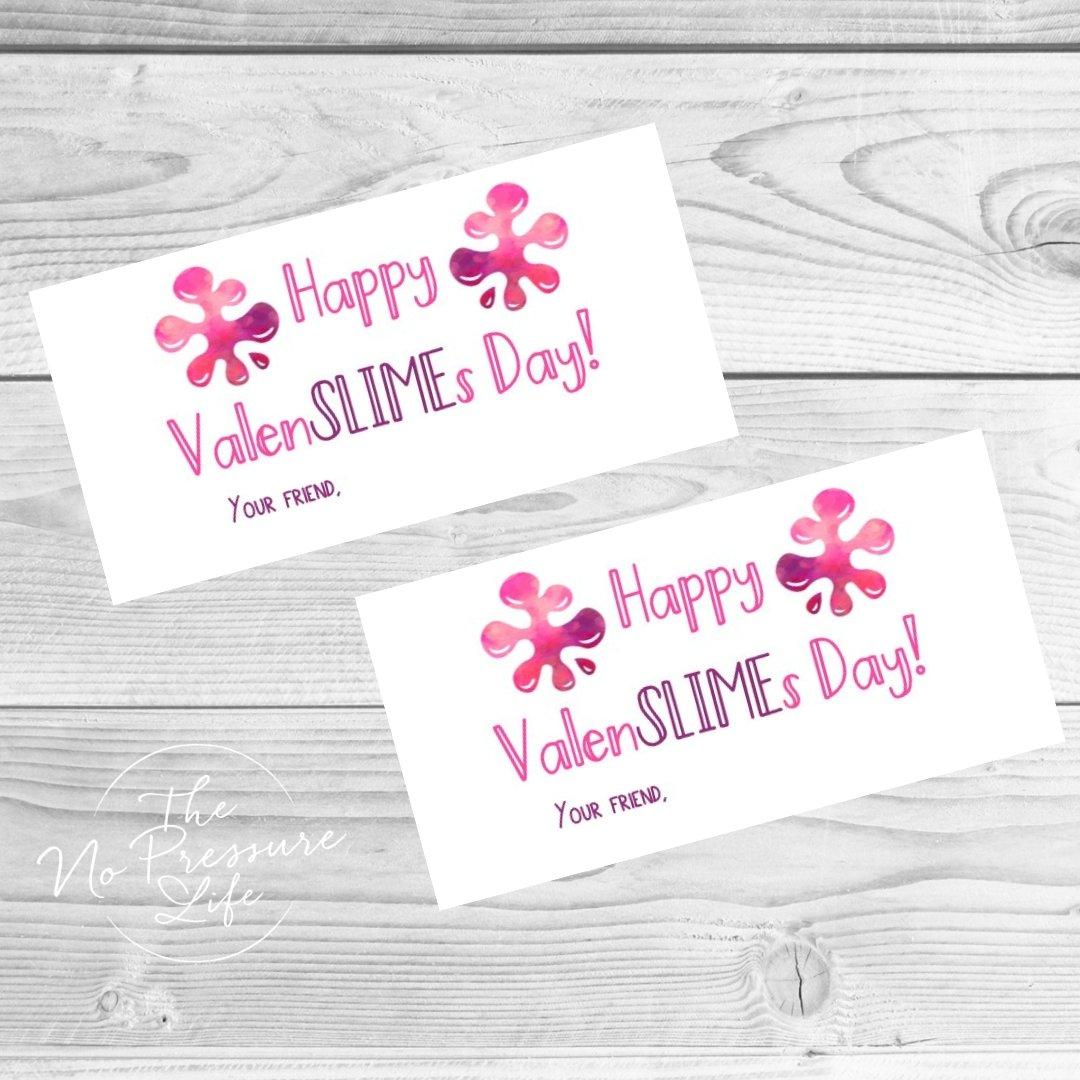 Valentine's Day slime labels - free printable