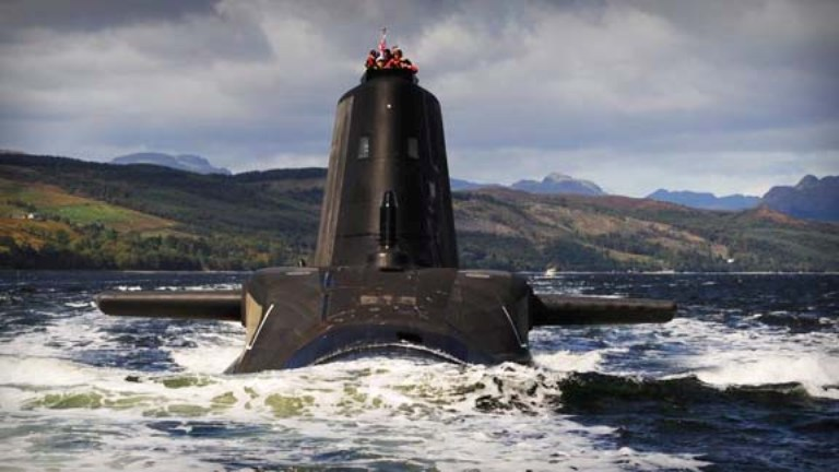 One of the Royal Navy's astute-class submarines