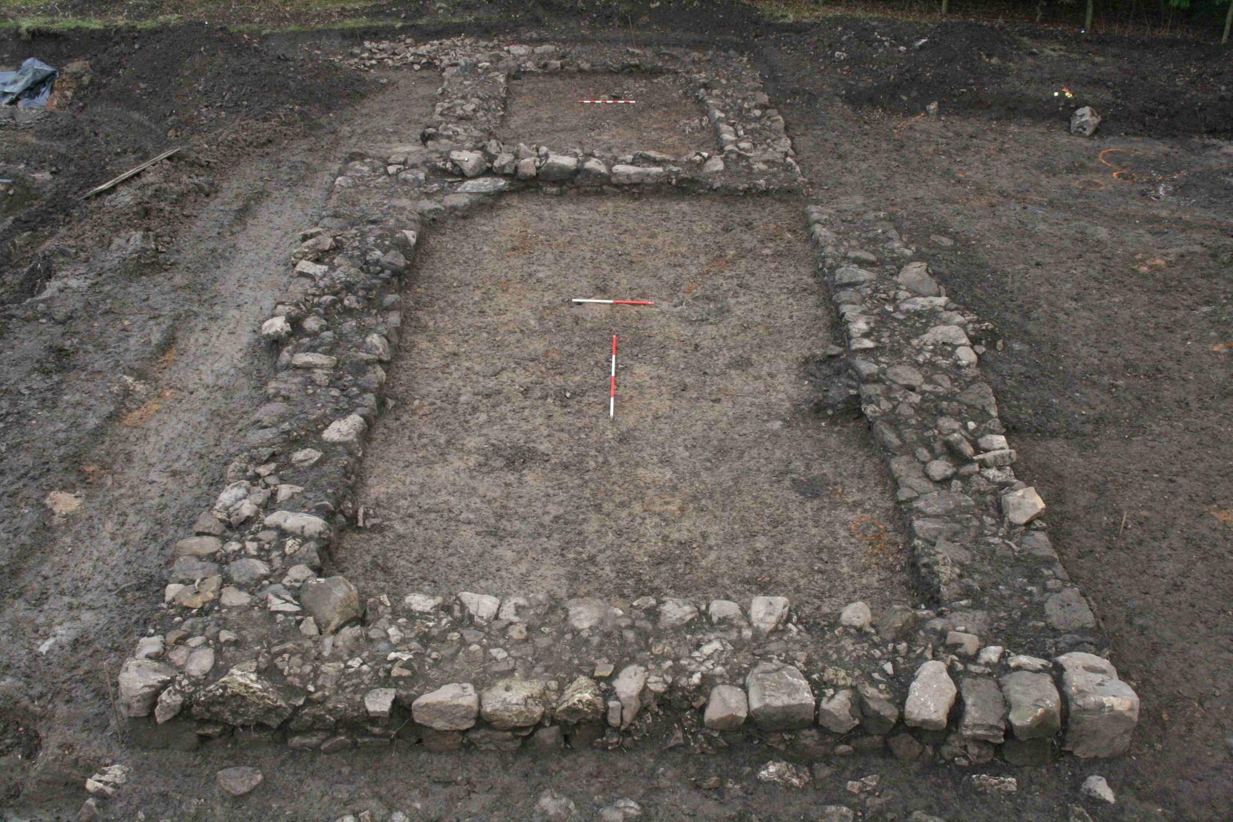 Outline of medieval church revealed on building site