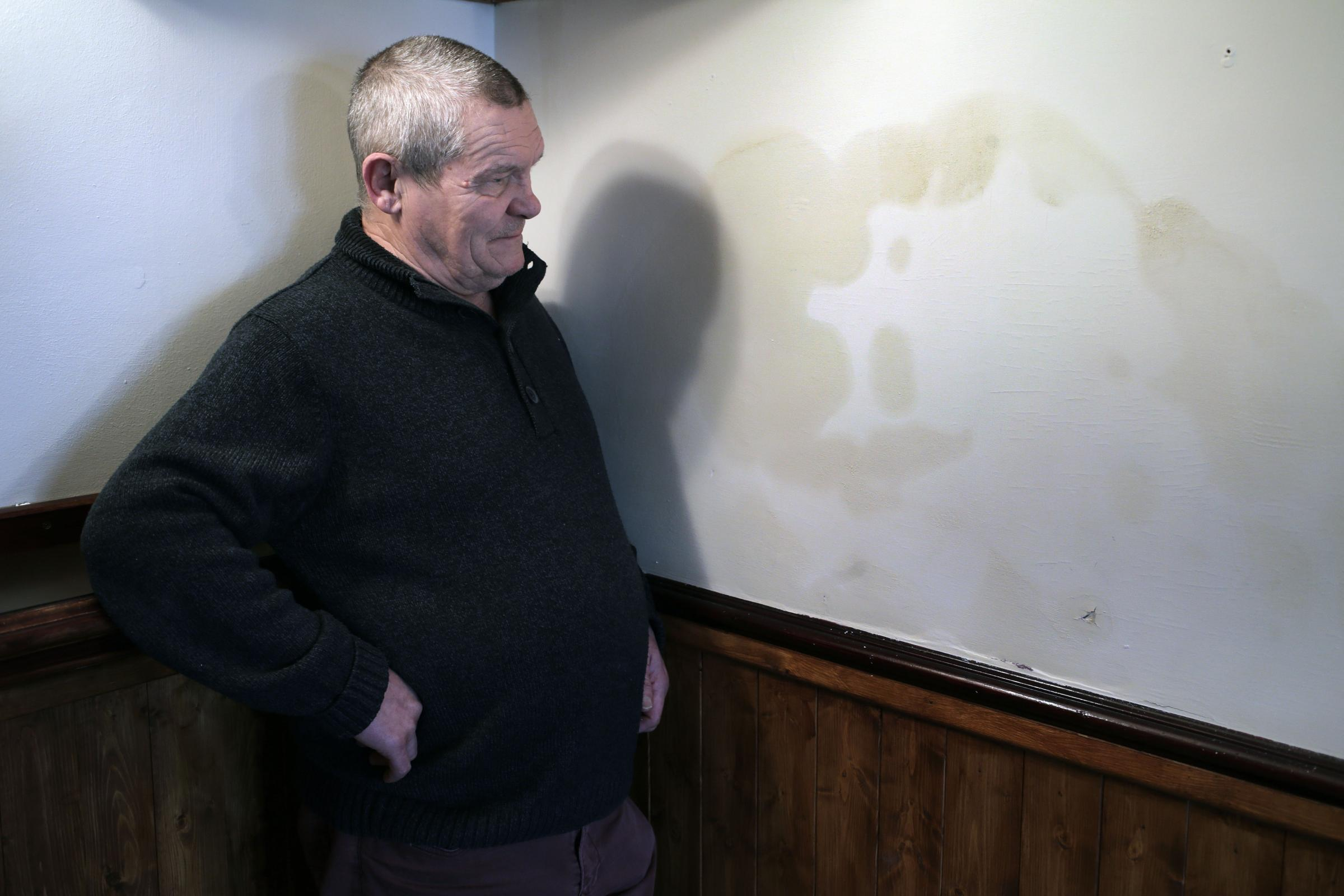 Devil's in the detail as pub landlord spots hellish figure on wall