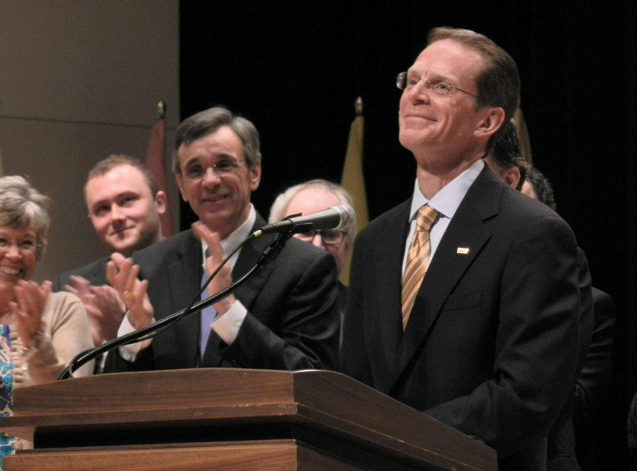 Mearns was announced president on April 17, 2012. He was ushered in nearly five years ago.