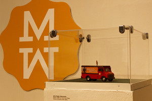 A miniature replication of Marty's Waffle truck.