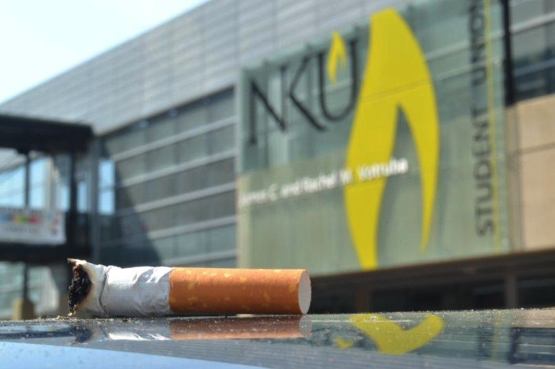 While+banned+since+January%2C+smoking+on+campus+still+occurs.+NKU%27s+policy+is+being+strengthened+through+programs+to+help+smokers+quit.+
