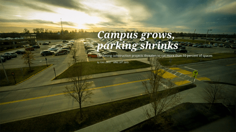 Campus grows, parking shrinks