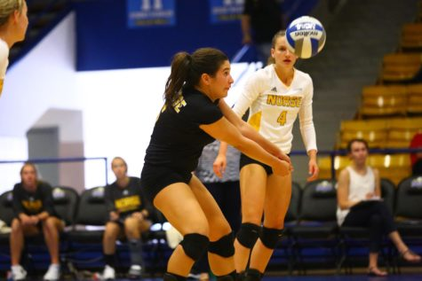 Hurley leads the Norse in digs with 221 digs so far this season.