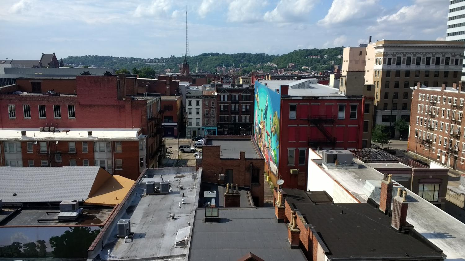 The rooftops of downtown Cincinnati.