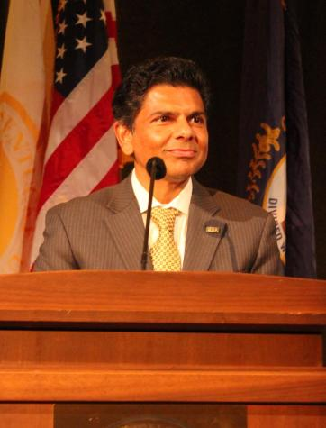 Incoming president Vaidya addresses university on diversity, finance