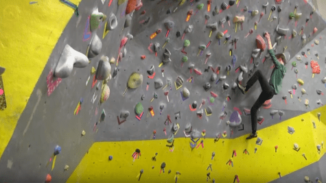VIDEO: Students climb to new heights on bouldering wall