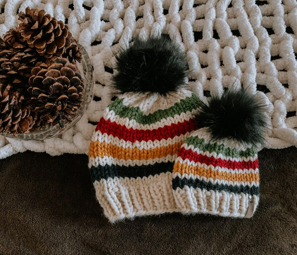 Free chunky striped hat pattern