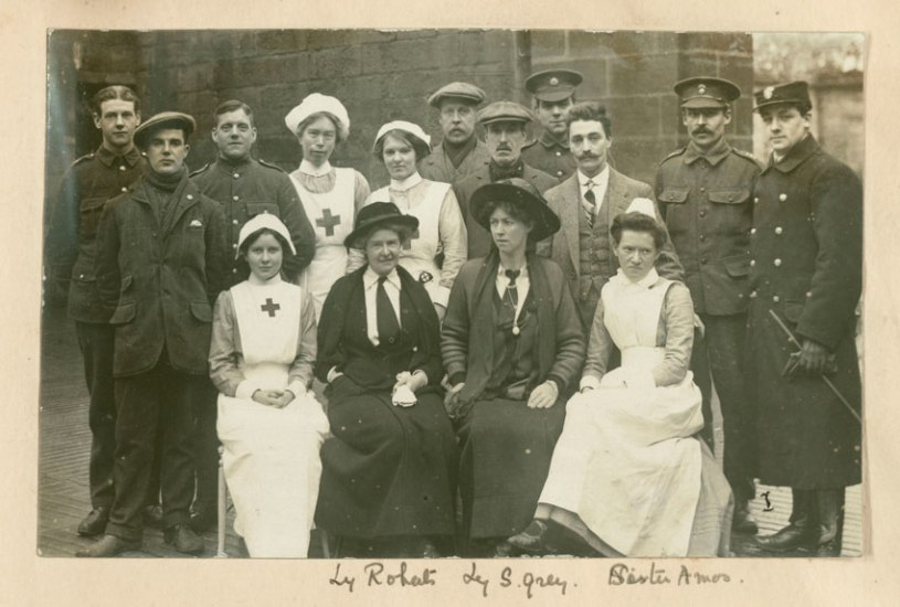 Lady Sybil Grey and Lady Aileen Roberts at Howick Hall Hospital,1915