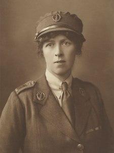 Lady Sybil Grey in the uniform of the Women's Legion, France 1919