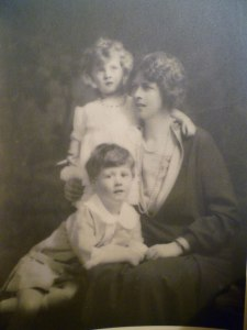 Lady Sybil Middleton with her son Harry and daughter Molly, about 1929