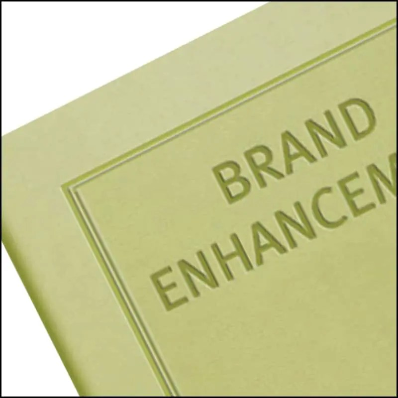 Blind Embossing is one of the Custom Options available on Phoenix Branded Notebook from The Notebook Warehouse