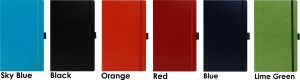 Image showing Notebook Colours for Sherwood Branded Notebook