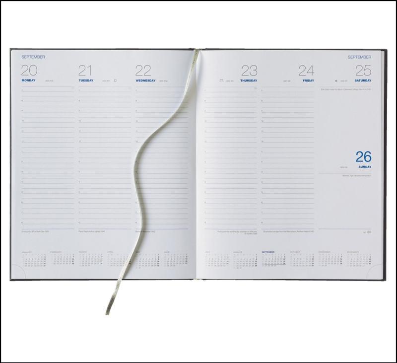 Company Diary in Quarto Weekly White format.
