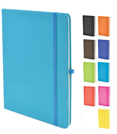 Image showing the colours available in the Mole Branded Notebooks range from The Notebook Warehouse
