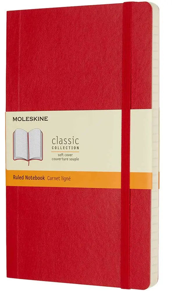 Customised Softcover Moleskine, part of the range of customised Moleskine notebooks available from The Notebook Warehouse.