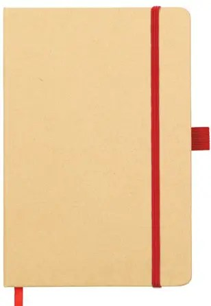 Broadstairs A5 Eco Branded Notebooks with Red Strap and Pen Loop. Part of the Environmental Branded Notebooks range from The Notebook Warehouse