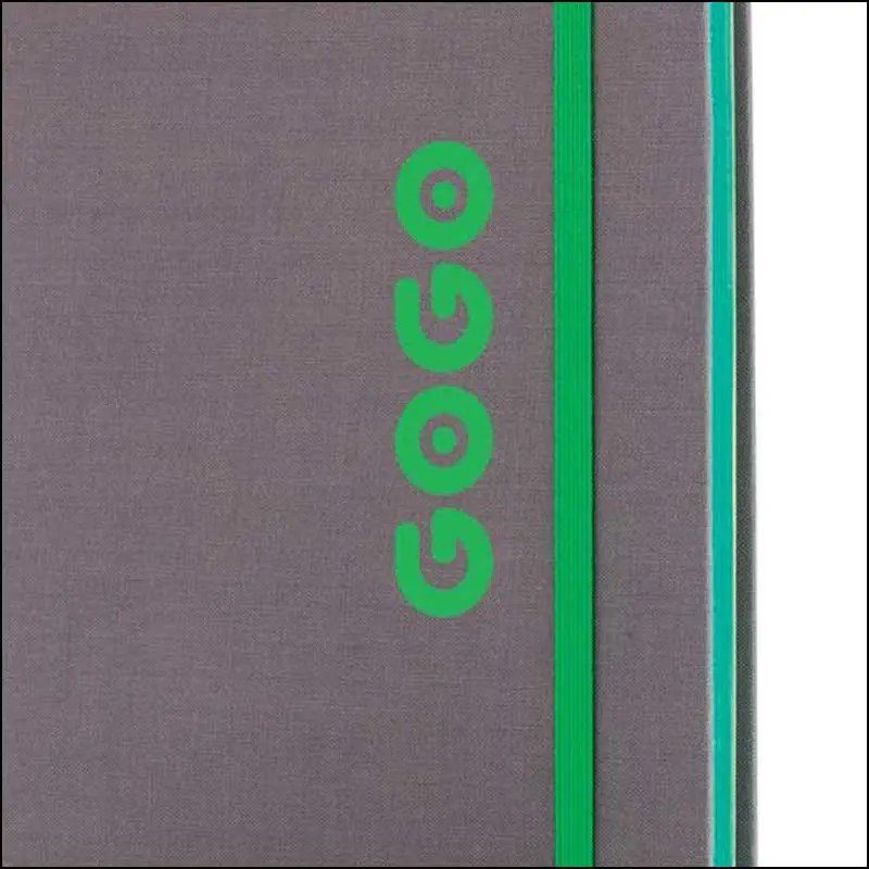 A5 Branded Notebook with one colour print from the Deluxe Fabric Contrast Custom Notebook from The Notebook Warehouse