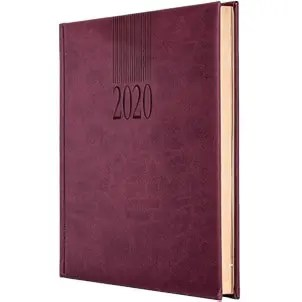 Image showing Burgundy Branded Diary. From The Notebook Warehouse, the home of Company Custom Notebooks
