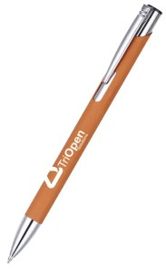 Image showing Amber Coloured Pen from the Mole Mate Promotional Notebooks & Pens range from The Notebook Warehouse