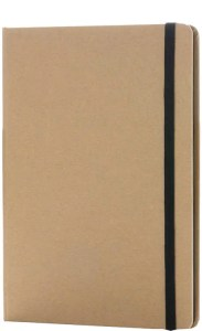 Image showing Black Colourway of Contrast Edge Branded Eco Friendly Notebooks range from The Notebook Warehouse