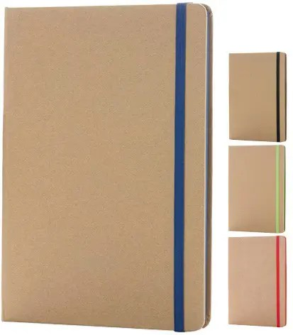 Image showing the range of Contrast Edge Eco FriendlyBranded Notebooks range from The Notebook Warehouse