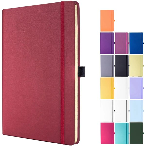 Image showing Medium Matra Branded Notebooks in the colours available from The Notebook Warehouse