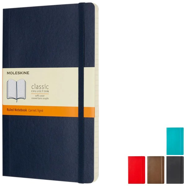 Image showing Softcover Custom Moleskine from The Notebook Warehouse available in 5 Colours