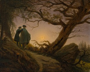 'Two Men Contemplating the Moon' by Caspar David Friedrich