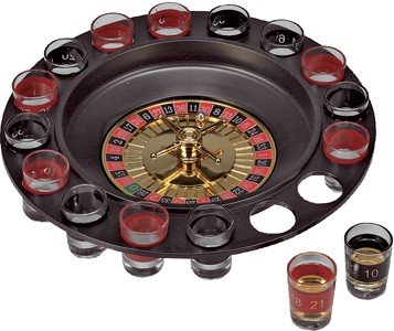 Shot Glass Roulette Wheel
