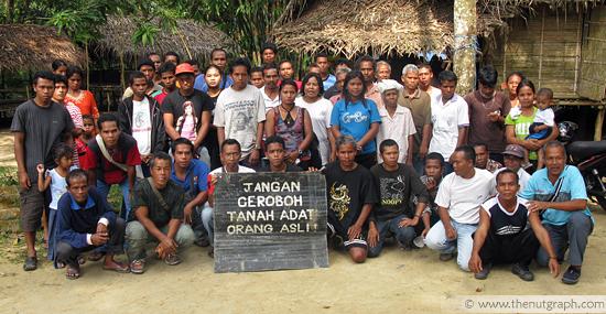 Orang Asli in Kampung Chang, Bidor, protesting for their land rights