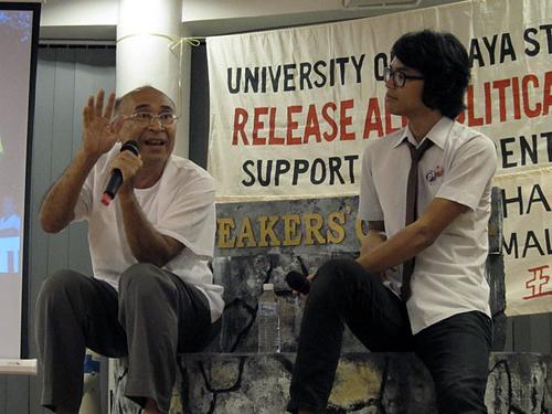 Syed Hamid (left) sharing his experiences at PJLA (pic courtesy of Syed Hamid)