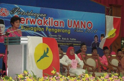 At an Umno function in her constituency