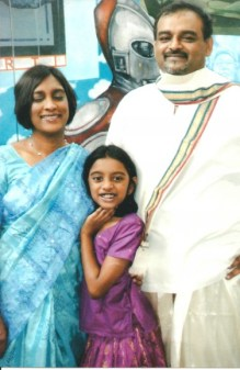 A recent family photo of Anu, his wife Inpamathi Natkunasingam and their daughter Rupa Anurendra in 2009 in Kuala Lumpur
