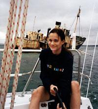A 16-year-old Aishah sailing in Australia