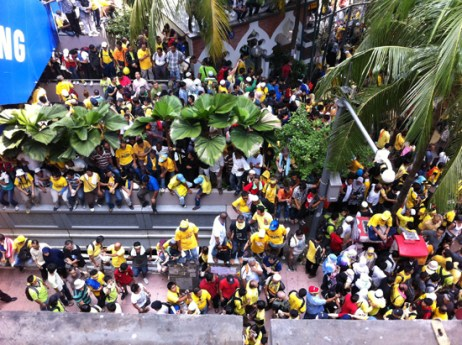 Another view of the protesters. (Pic courtesy of Lillian Tay)