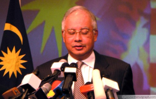 Najib announcing his Cabinet in April 2009, shortly after becoming prime minister.