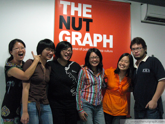 The team in the TNG office in 2010 (from left): Deborah Loh, Gan Pei Ling, Lainie Yeoh, Jacqueline Ann Surin, Ding Jo-Ann and Nick Choo