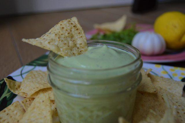 Cilantro Garlic Vegan Dip