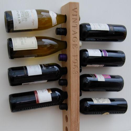 personalised wall wine rack 10 bottle