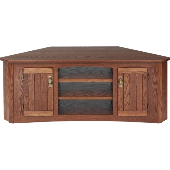 Solid Oak Mission Style TV Stand WCabinet 55 The Oak