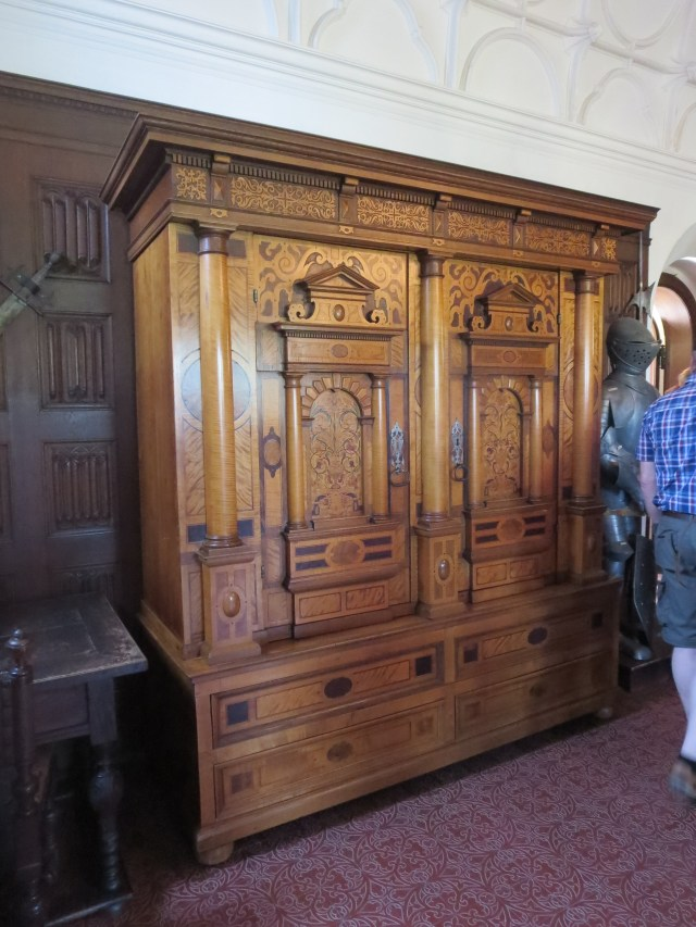 This amazing inlaid wardrobe was the most valuable piece of furniture in the castle.